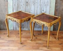 French mid century side tables - pair - SOLD